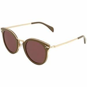 Green Round Ladies Sunglasses CL40011U